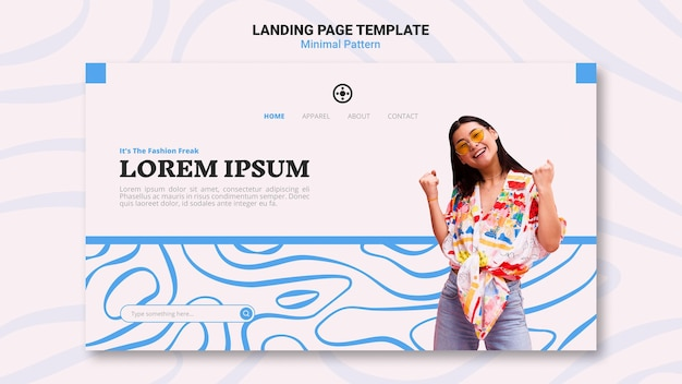 Conception De Page De Destination à Motif Minimal PSD Premium