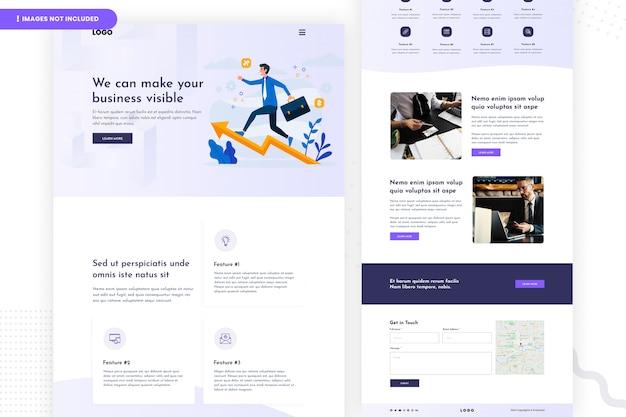 Conception De Page De Site Web D'entreprise PSD Premium