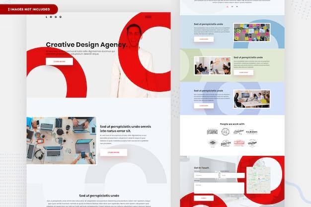 Conception De La Page Web De L'agence De Conception PSD Premium