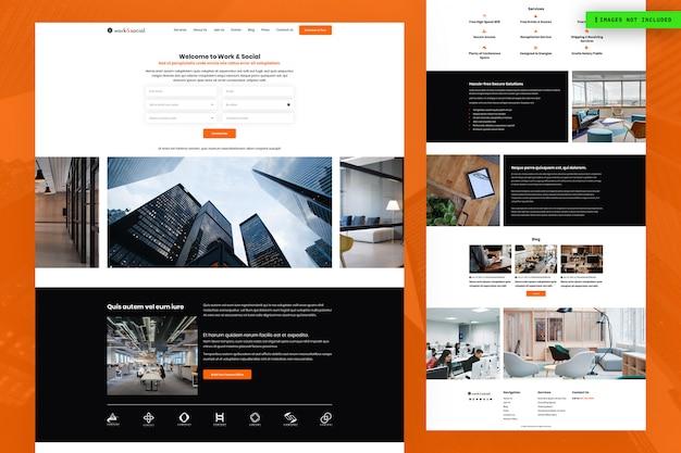 Conception De Pages De Sites Web Professionnels Et Sociaux PSD Premium