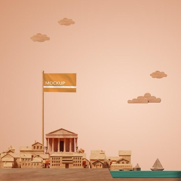 Conception De Villes Journée Mondiale Miniature De Bâtiment 3d Psd gratuit