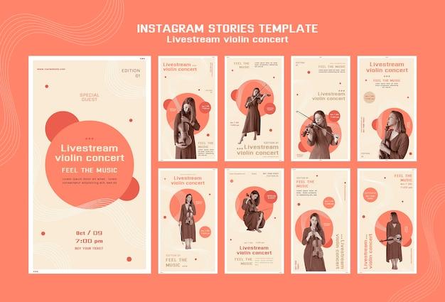 Concert De Violon En Direct Sur Instagram Stories Psd gratuit