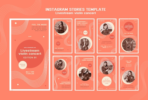 Concert De Violon En Direct Sur Instagram Stories PSD Premium