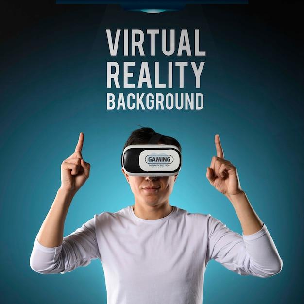 Contexte De Réalité Virtuelle Psd gratuit