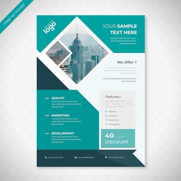 Coperate business flyer design PSD Premium