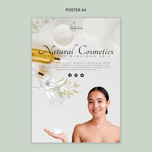 Cosmétique Naturelle Psd gratuit