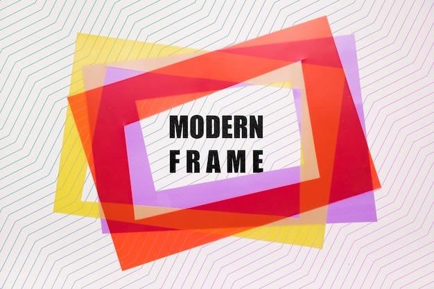 Couches De Maquettes De Cadres Modernes Psd gratuit