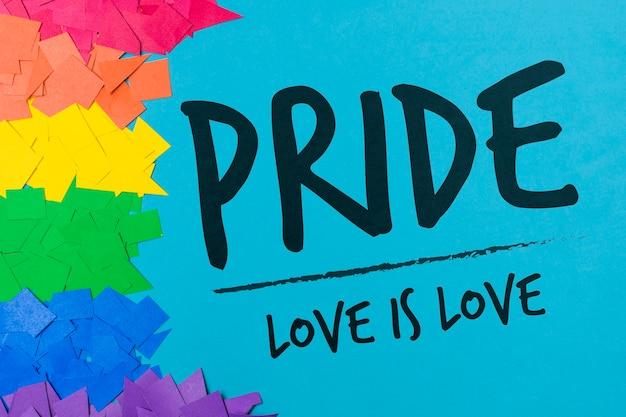 Couper les papiers maquette gay pride Psd gratuit