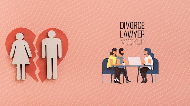 Couple Parlant Au Concept D'avocat Psd gratuit