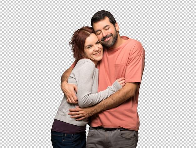 Couple, saint valentin, étreindre PSD Premium