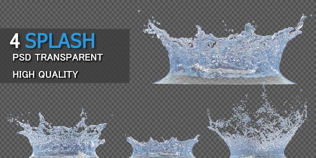 Couronne Eau Splash Transparent Isolé PSD Premium