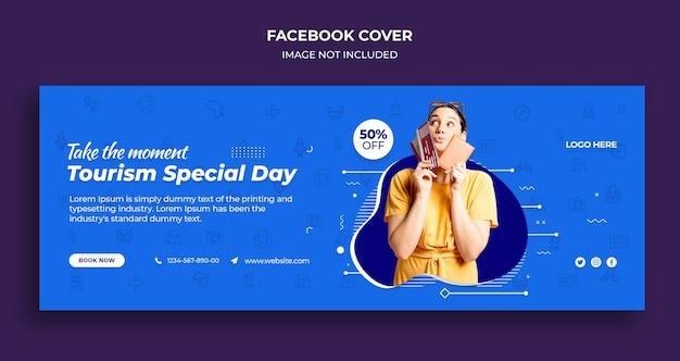 Couverture De La Chronologie Facebook De La Journée Spéciale Du Tourisme Et Modèle De Bannière Web PSD Premium