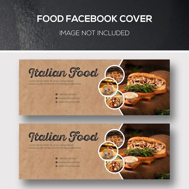 Couverture facebook alimentaire PSD Premium