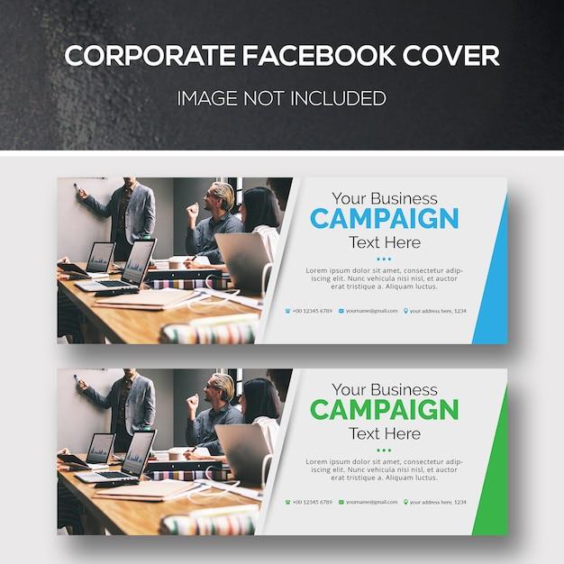 Couverture facebook d'entreprise PSD Premium