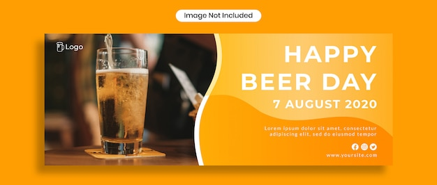 Couverture Facebook Happy Beer Day PSD Premium