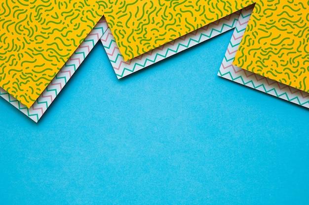 Couverture géométrique maquette collectio Psd gratuit
