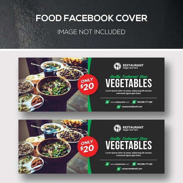 Couvertures Facebook De Nourriture PSD Premium