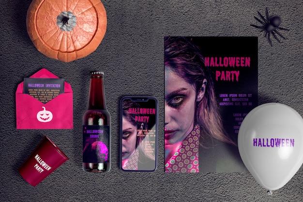 Créateur De Scène Concept Halloween Psd gratuit