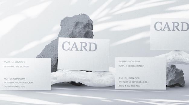 Créateur De Scène De Maquette De Carte De Visite Minimale PSD Premium