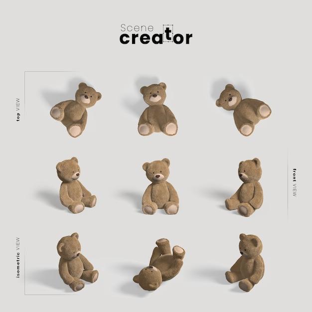 Créateur De Scène D'ours En Peluche Psd gratuit