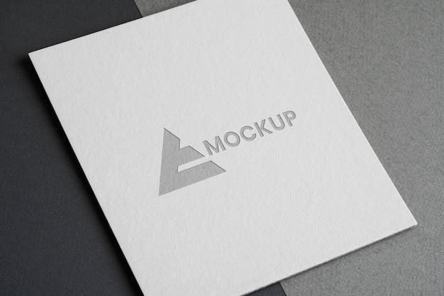 Création De Logo Maquette Pour Les Entreprises Psd gratuit