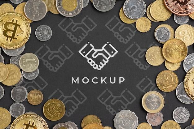 Crypto-monnaie Colorée Avec Maquette Psd gratuit