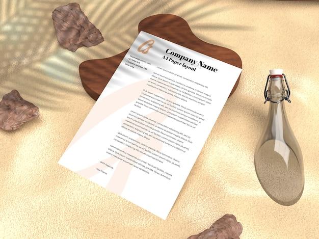 Curriculum Vitae De Portefeuille Papier Réaliste Pour Maquette De Flyer D'entreprise Et Publicitaire PSD Premium