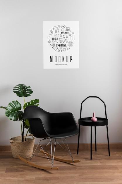 Decor De Maison Moderne Minimaliste Et Affiche De Maquette Psd Gratuite