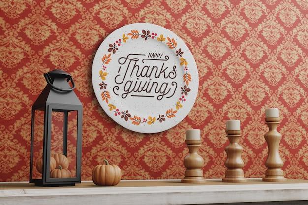 Décoraions Le Jour De Thanksgiving Psd gratuit