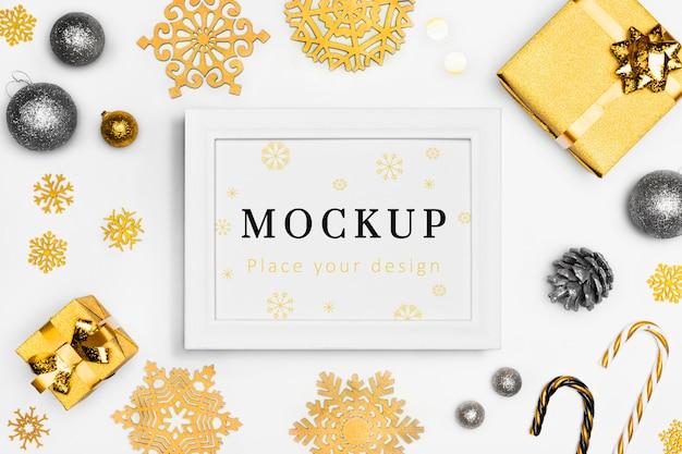Décoration élégante De Noël Avec Maquette Psd gratuit