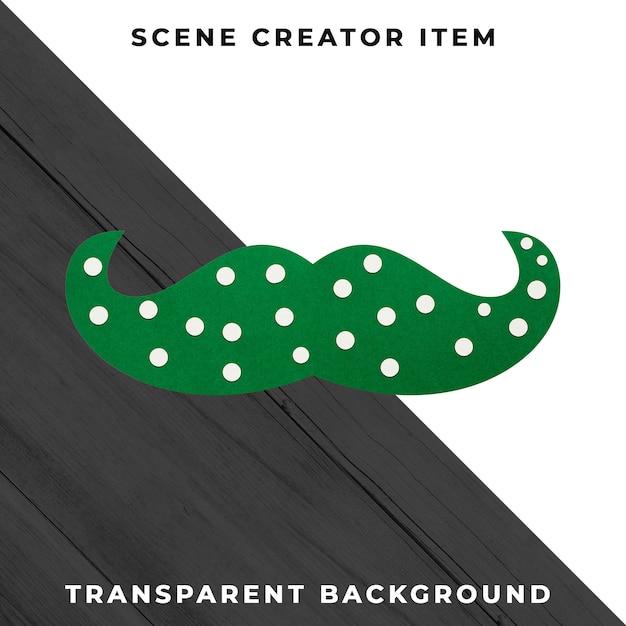 Décoration De Moustache En Papier Isolée Avec Un Tracé De Détourage. Psd gratuit