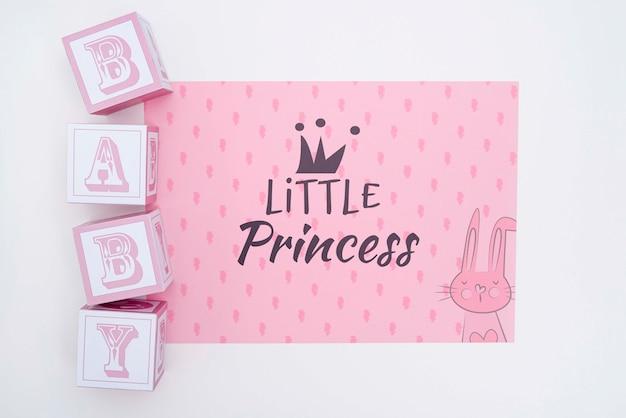 Décorations De Douche De Bébé Petite Princesse Psd gratuit