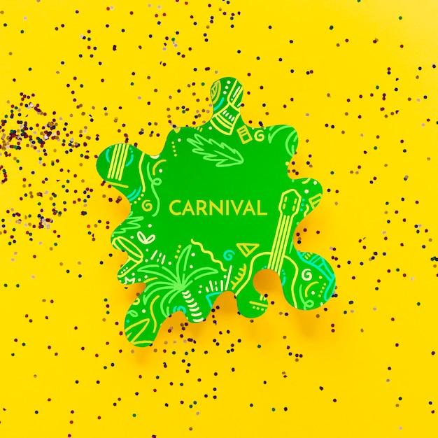 Découpe De Carnaval Avec Des Confettis Psd gratuit