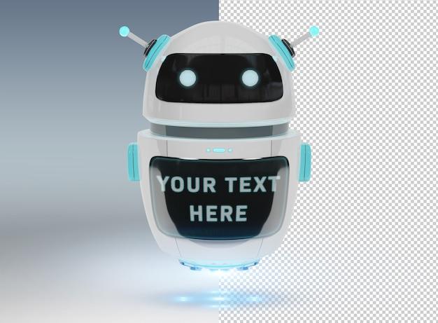 Découper Chatbot Sur Gey Mockup PSD Premium