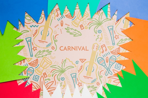 Découpes Colorées De Carnaval Psd gratuit
