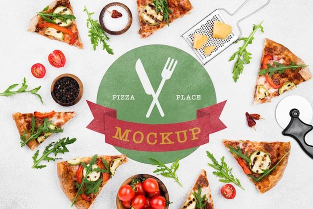 Délicieuse Maquette De Concept De Pizza Psd gratuit