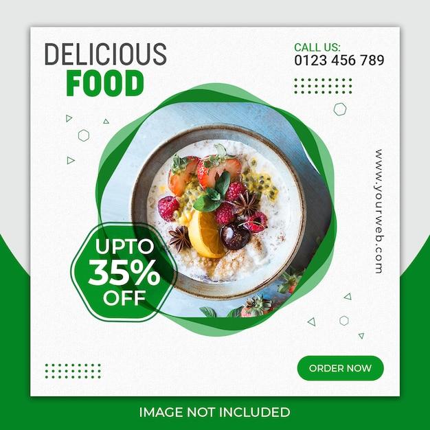 Delicious Food Post Pour Les Médias Sociaux PSD Premium
