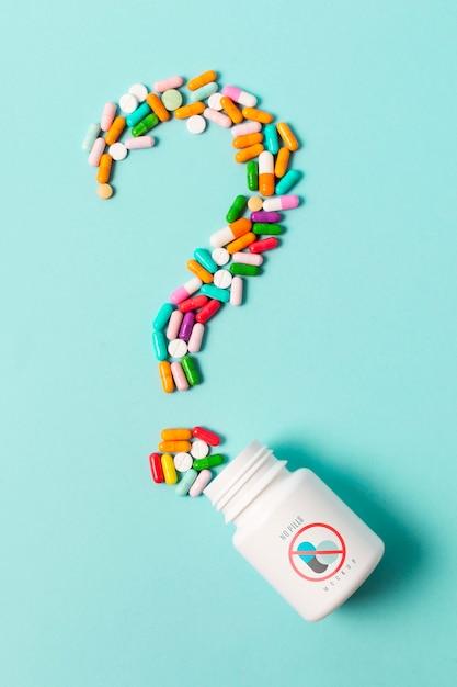 Dépendance Aux Pilules Avec Concept De Maquette Psd gratuit