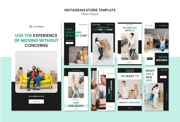 Déplacer Le Modèle D'histoires Instagram Psd gratuit