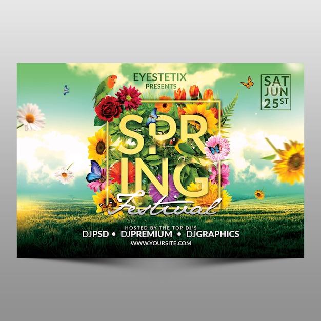 Dépliant du festival du printemps PSD Premium