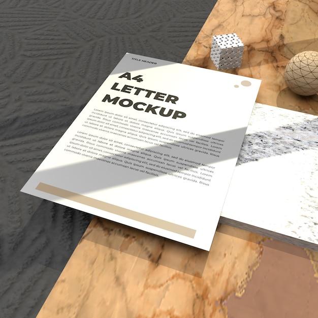 Dépliant De Maquette De Lettre Réaliste Pour Affiche De Cv Et Maquette De Publicité PSD Premium