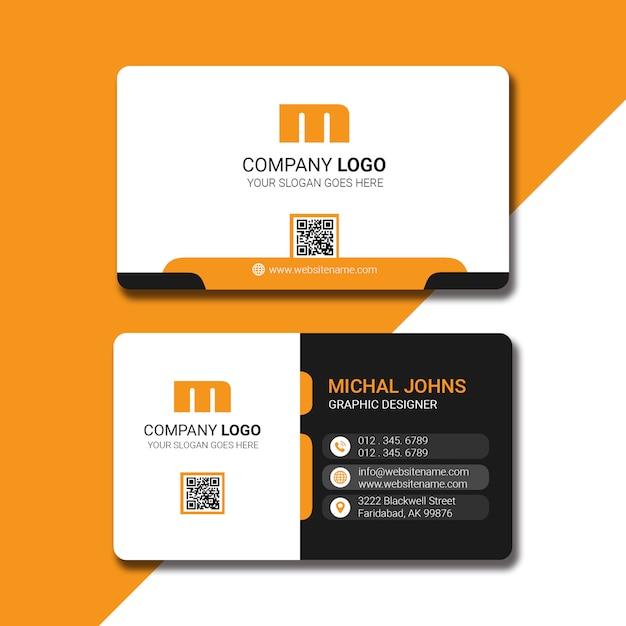 Design de carte de visite moderne PSD Premium