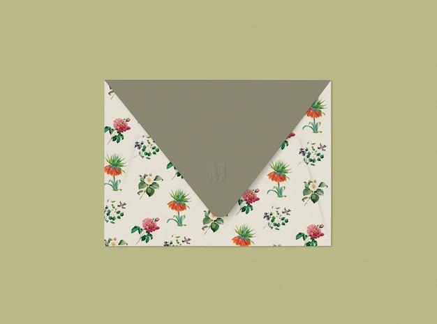 Design Enveloppe Florale Psd gratuit
