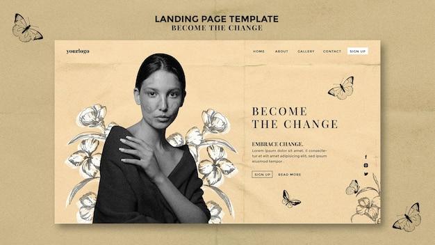 Devenez La Page D'accueil Du Changement PSD Premium