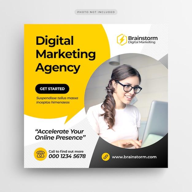 Digital Business Marketing Bannière De Médias Sociaux Ou Dépliant Publicitaire PSD Premium