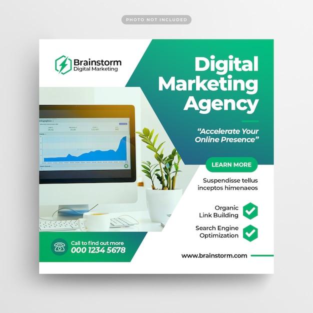 Digital Business Marketing Réseaux Sociaux Poster Bannière & Flyer Carré PSD Premium