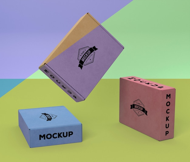 Disposition De Maquette De Boîte D'emballage Psd gratuit