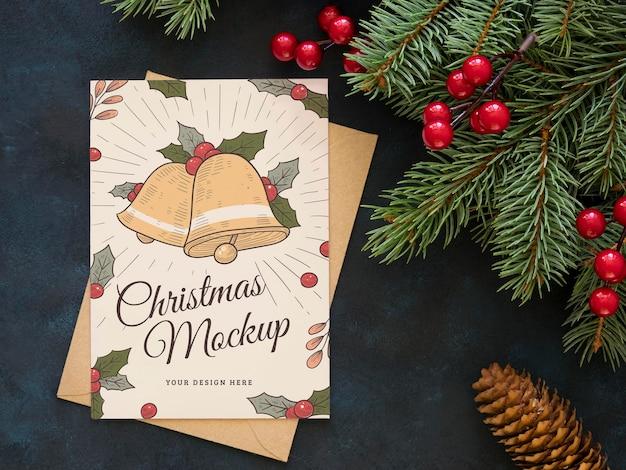 Disposition à Plat De La Maquette Des éléments De La Veille De Noël Psd gratuit