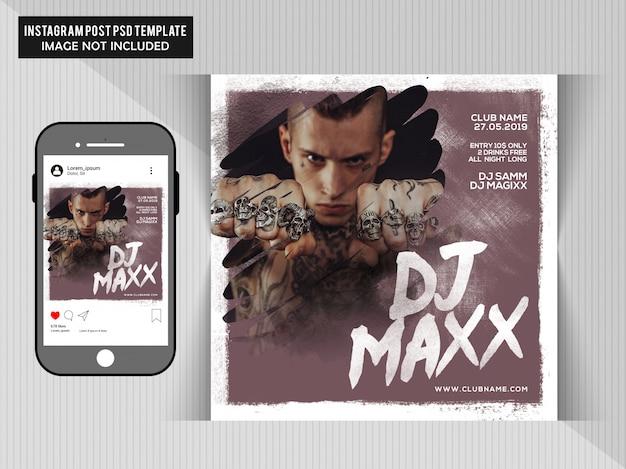 Dj maxx party flyer PSD Premium