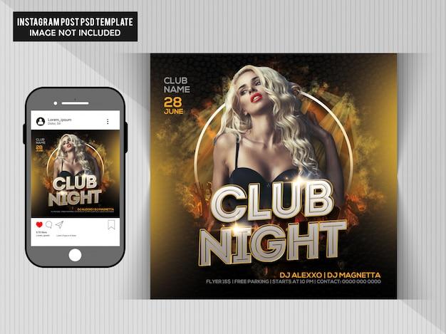 Dj Party Flyer Pour Instagram PSD Premium